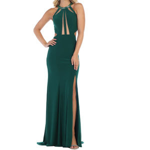 Sexy Simple Stretchy Semi Formal Evening Prom Gown